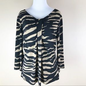 Chico's 3/4 Sleeve Printed Blouse